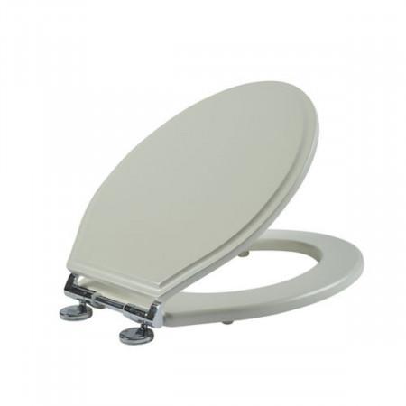 Roper Rhodes Hampton Chalk White Soft Close Toilet Seat Open