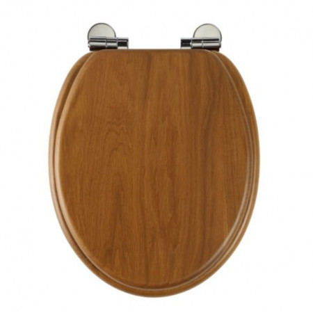 Roper Rhodes Honey Oak Traditional solid wood toilet seat with soft-closing hinges