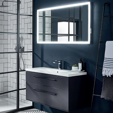 Roper Rhodes Leap 600/800mm Illuminated Mirror with USB Charging life Life