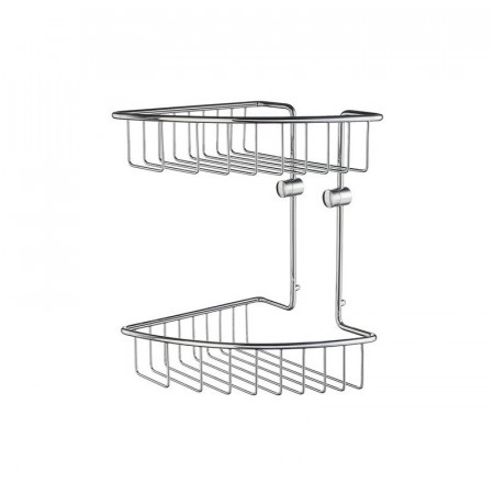 Smedbo Home Double Corner Shower Basket