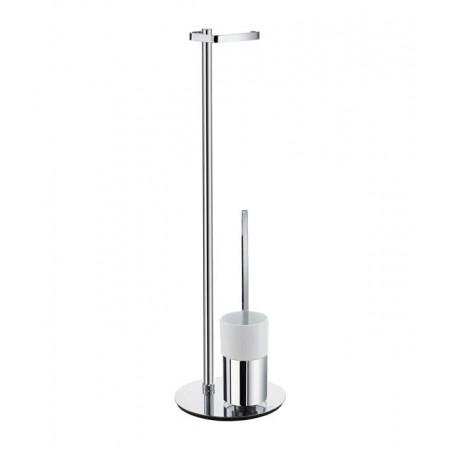 Smedbo Outline Free Standing Toilet Roll Holder & Toilet Brush