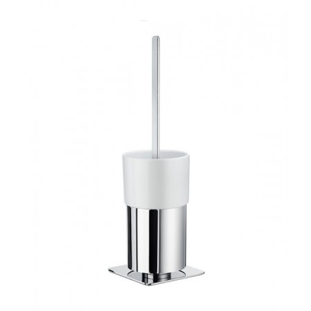 Smedbo Outline Toilet Brush & Polished Chrome Container Square Base