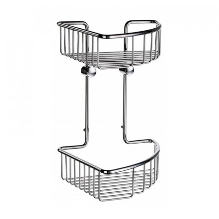 Smedbo Sideline Bath Accessories Double Corner Soap Basket