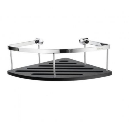 Smedbo Sideline Design Corner Soap Basket Black Surface