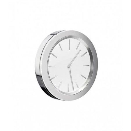 Smedbo Time Chrome and White 60mm diameter Clock