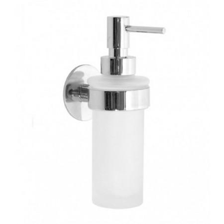 Smedbo Time Polished Chrome Holder with Glass Soap Dispenser