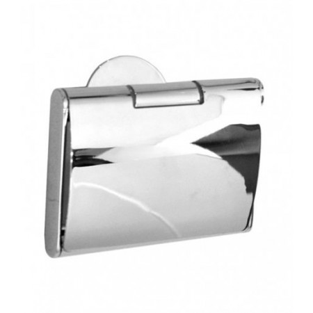 Smedbo Time Polished Chrome Toilet Roll Holder with Cover YK3414