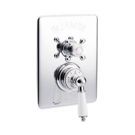 St James Concealed Thermostatic Shower Valve With London Handle & London Lever