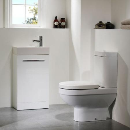 Tavistock Kobe 450 Freestanding Unit in White with Basin KFS45W