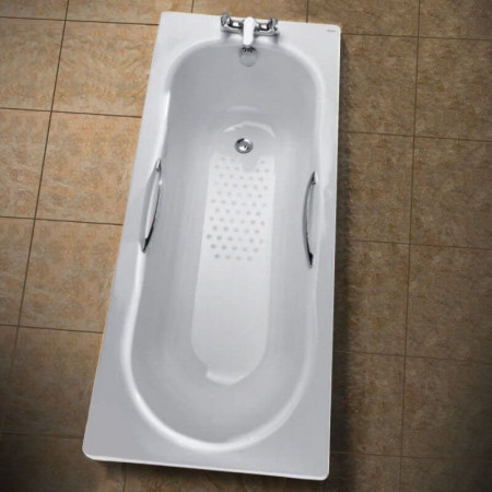 Twyford Celtic Steel Bath 1600 x 700mm Slip Resistant inc Grips and Legs