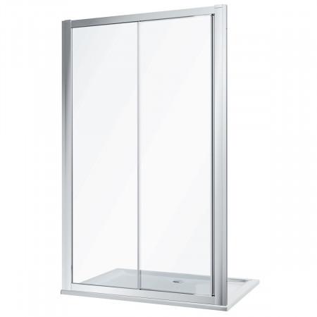 Twyford Geo 1400mm Sliding Shower Door - 6mm Glass-3