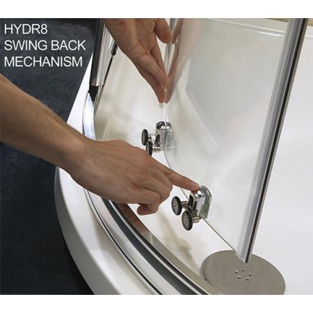 Twyford Hydr8 900x800mm Offset Quadrant Enclosure   H85001CP