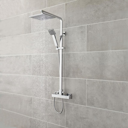 Premier Square Thermostatic Bar Shower With Kit