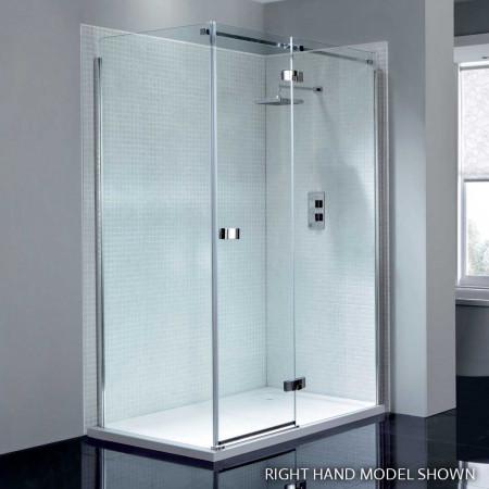April Prestige2 Frameless 900mm Hinge Shower Door with In-line Panel