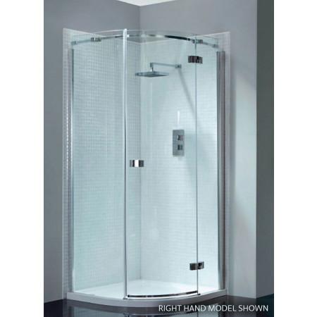 April Prestige2 Frameless Single Door Offset Quadrant Shower Enclosure 1000mm X 800mm