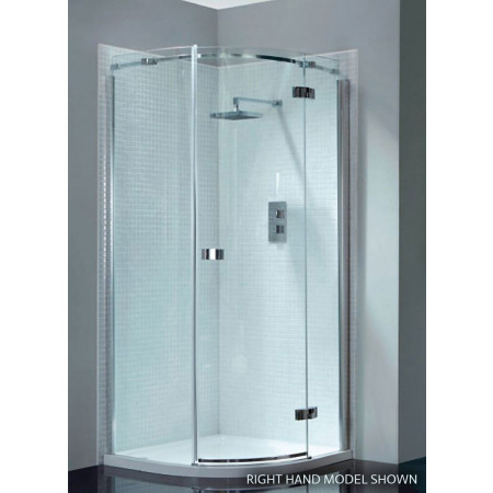April Prestige2 Frameless Single Door Offset Quadrant Shower Enclosure 1200mm X 800mm