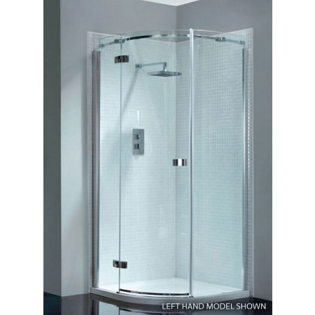 April Prestige2 Frameless Single Door Offset Quadrant Shower Enclosure 900mm X 760mm