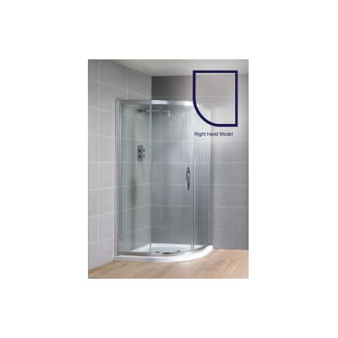 Aquadart Venturi 8 900 x 760mm Single Offset Quadrant Shower Enclosure