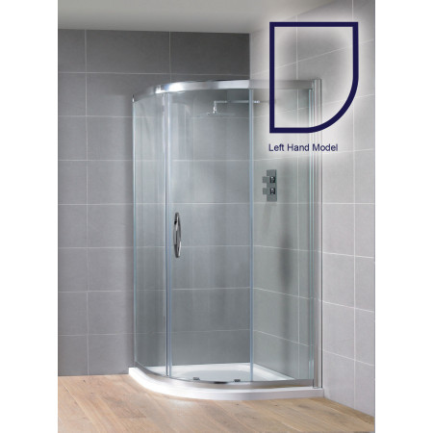 Aquadart Venturi 8 1200x800mm Single Offset Quadrant Shower Enclosure