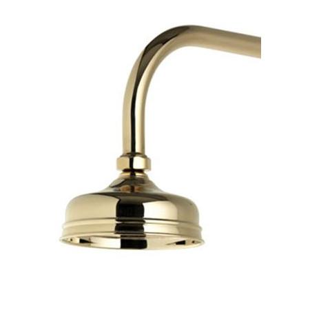 Aqualisa Aquatique 5 Inch Exposed Drencher Shower Head Gold Finish