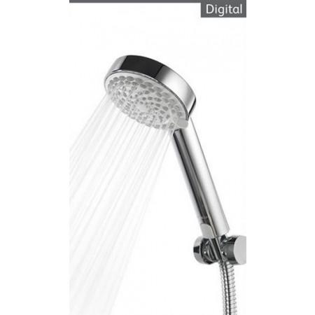 Aqualisa Quartz Digital concealed shower with adjustable head HP Combi QZD.A1.BV.14