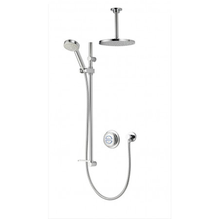 Aqualisa Quartz Digital Divert Concealed Shower with Adjustable and Fixed Ceiling Heads- HP/Combi