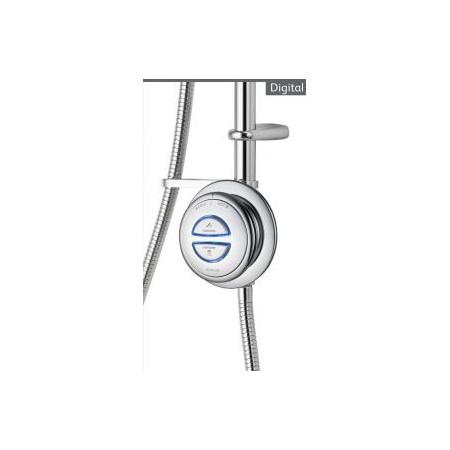 Aqualisa Quartz Digital Divert exposed shower with adjustable head and bath fill HP Combi