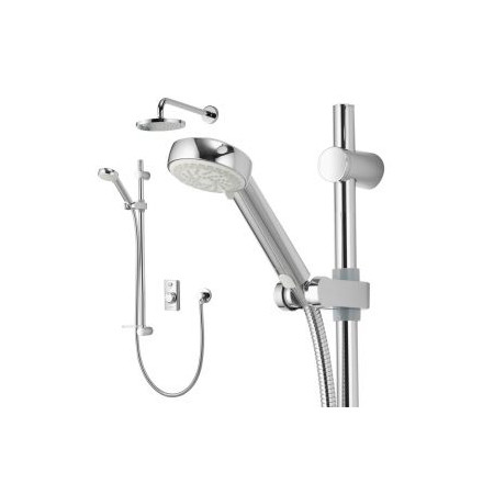 Aqualisa Visage Digital Divert Concealed Shower with Adjustable and Fixed Wall Heads - Gravity Pumped