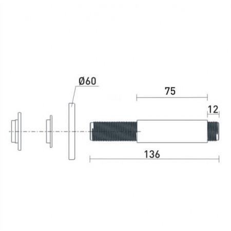 Bristan 75mm Round Ceiling Fed Shower Arm