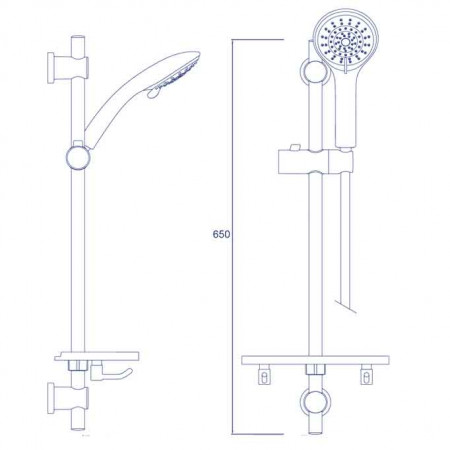 Bristan Cascade Shower Kit with 5 Function Large Handset