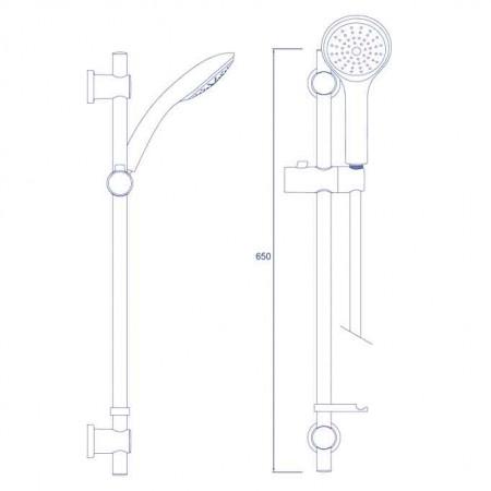Bristan Cascade Shower Kit with Single Function Large Handset