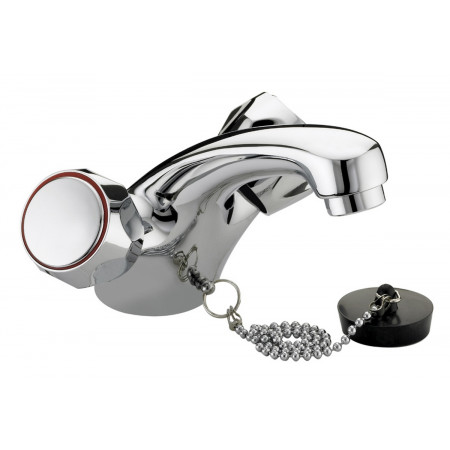 Bristan Club Utility, Basin Mixer Without Waste, Chrome Plated With Metal Heads