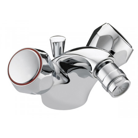 Bristan Club Utility Bidet Mixer With Pop Up Waste, Chrome Plated With Metal Heads