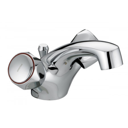 Bristan Club Utility Dual Flow Basin Mixer With Pop Up Waste, Chrome Plated With Metal Heads