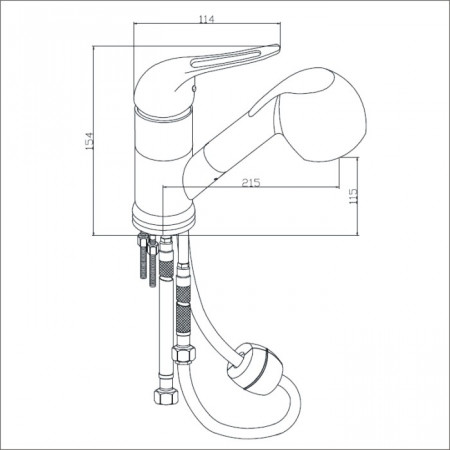 Bristan Pear Sink Mixer with Pull Out Spray