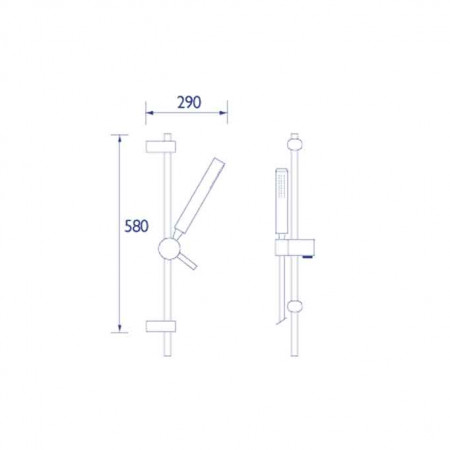 Bristan Shower Kit with Rub Clean Pencil Handset