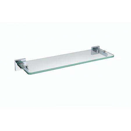 Bristan Square Chrome 467mm Toughened Safety Glass Shelf