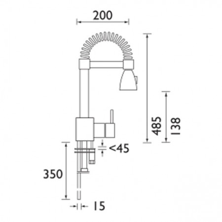 Bristan Target Monobloc Sink Mixer with Pull Out Spray