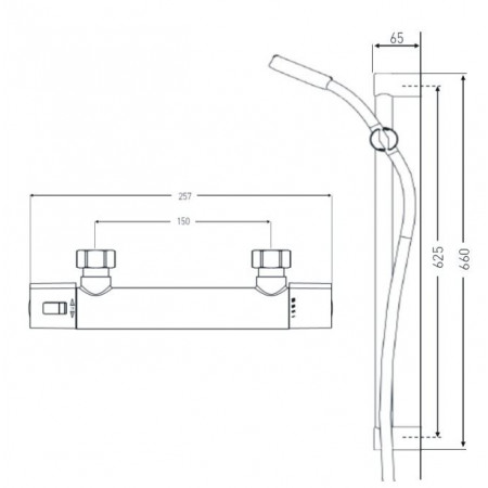 Bristan Zing Thermostatic Exposed Mixer Shower with Fast Fit Connections