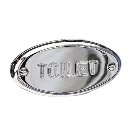 Miller Chrome Toilet Sign