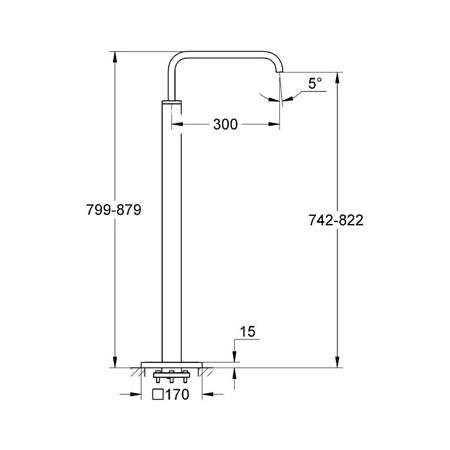 Grohe Spa Allure Floorstanding Bath Spout-2