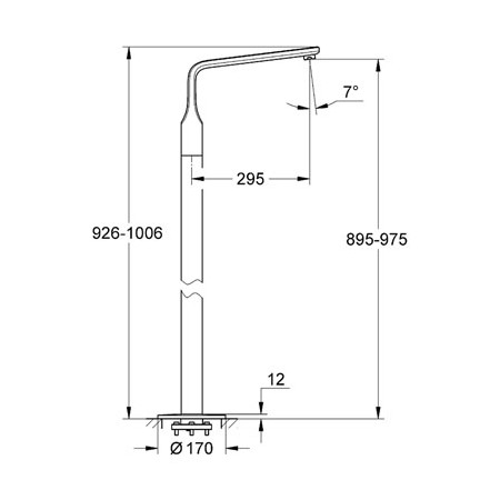 Grohe Spa, Veris, Floorstanding Bath Spout & Roughing in set