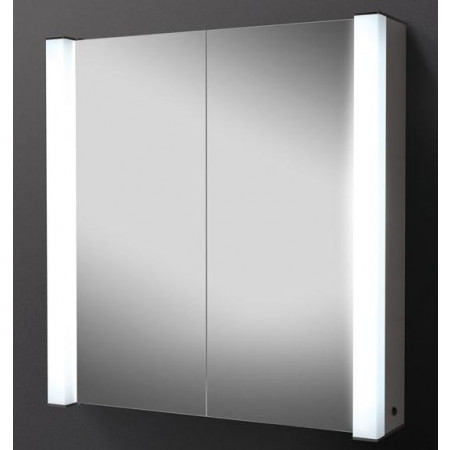 croydex thames two door illuminated bathroom cabinet & shaver
