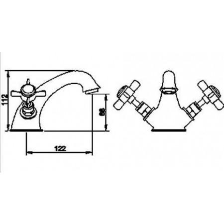 Premier Beaumont Luxury Mono Basin Mixer & Waste