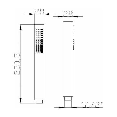 Premier Minimalist Square Handset HO310