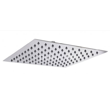 Hudson Reed Square Slim Stainless Steel 300 x 300mm Fixed Shower Head