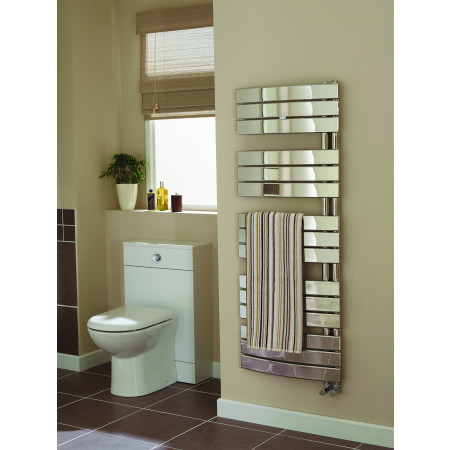 Ideal Essential Aries Chrome Curved Towel Warmer 780 x 550mm