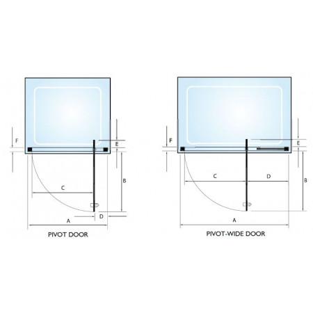 Kudos Original Straight Pivot Wide Door 1200mm