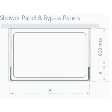 Lakes 1400mm Riviera Walk In Shower Panel