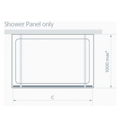 Lakes 950mm Riviera Shower Panel